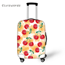 ELVISWORDS Travel Luggage Cover Cute Food Pattern for Suitcase Protective Elastic Stretch to 18-30 Case Dust Protector