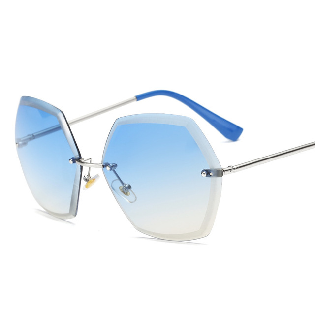 9f2cc99f88ae6 Vintage Ronde Grande Taille Surdimensionné lentille Miroir Marque Designer  Rose lunettes de Soleil Lady Cool Rétro