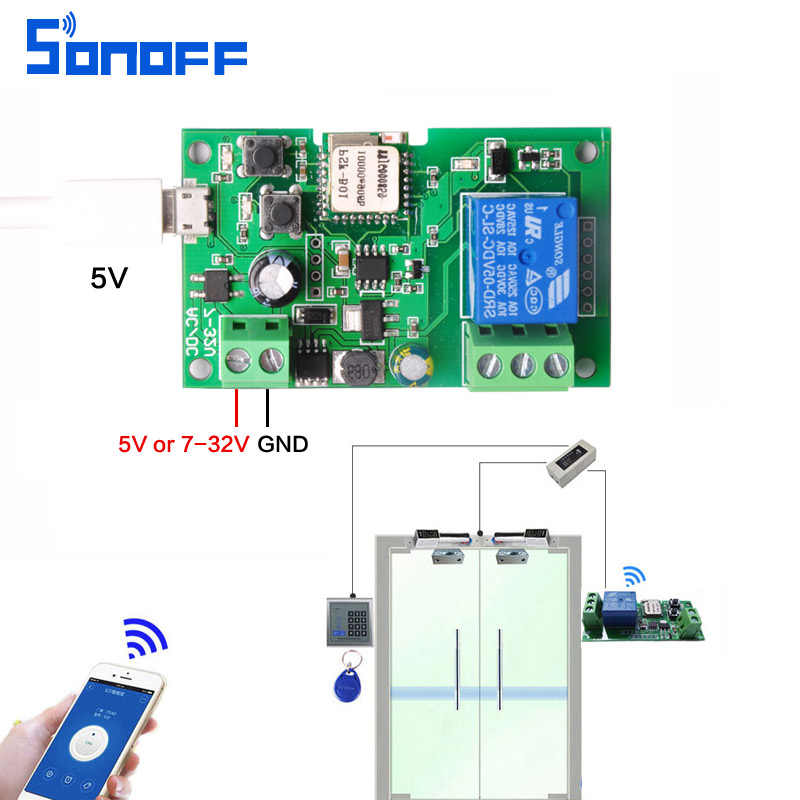 Detail Feedback Questions about sonoff DC5V 7v 32v wifi