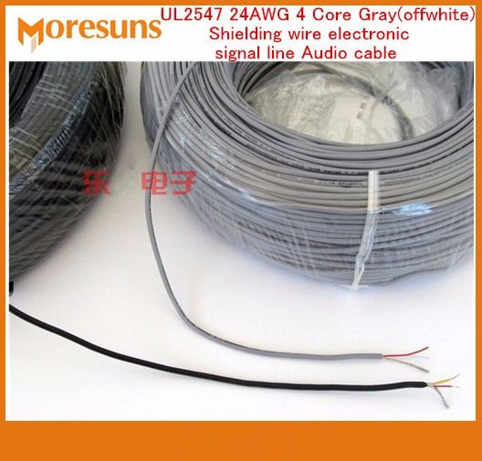 Fast Free Ship 10M/lot UL2547 24AWG 4 Core 0.2 Square Shielding Wire Electronic Signal Line Audio Cable Usb Data Wire