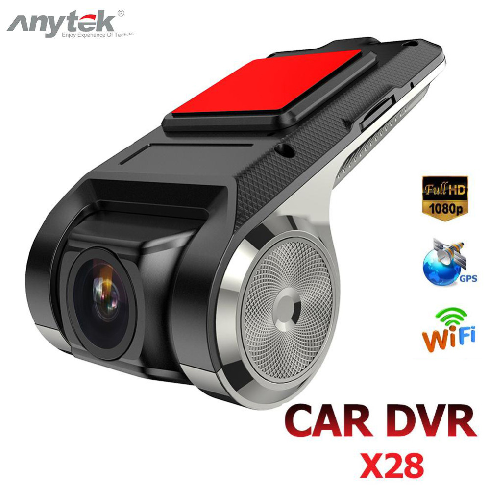 Anytek X28 Mini Car DVR Camera Full HD 1080P Auto Digital Video Recorder DVRs ADAS Camcorder G-sensor Dash Cam Wifi GPS Dashcam