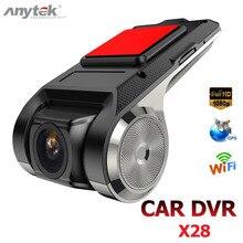 Anytek X28 Mini Macchina Fotografica Dellautomobile DVR Full HD 1080P Auto Registratore Video Digitale DVR ADAS Videocamera G sensor dash Cam Wifi GPS Dashcam