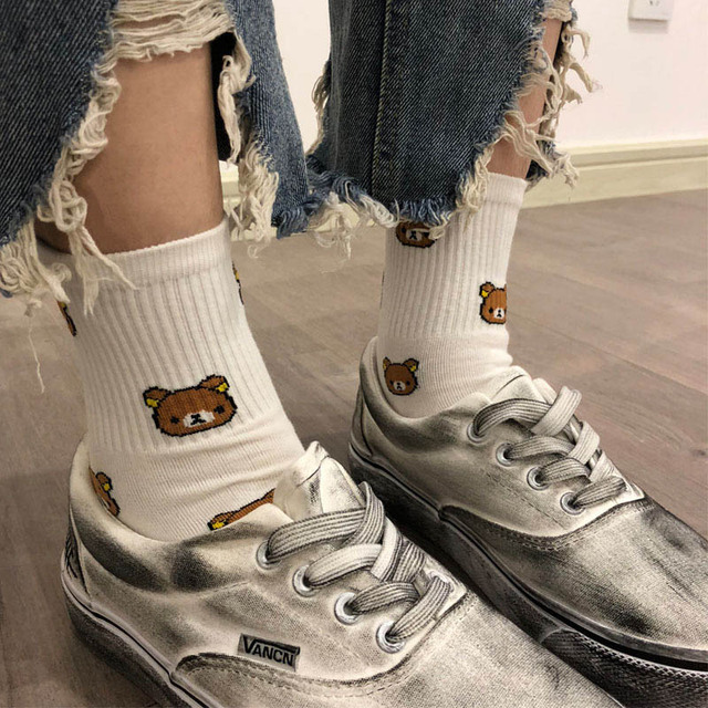 Women's Bears Printed Cotton Socks