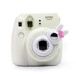 Image 5 - Śliczny styl królika zbliżenie obiektywu autoportret lustro dla Fujifilm Instax Mini /8/8 +/9 aparat natychmiastowy najnowszy