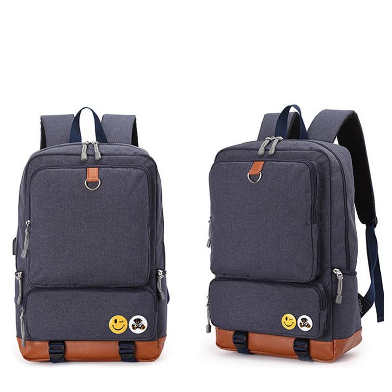 New 2018 Men Women USB Backpacks Cottonlene Laptop Backpack With USB Rucksack School  Travel Backpack