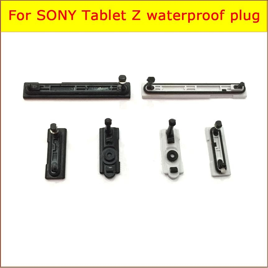 Genuine USB Charger Port Plug + Earphone + Micro SD & Sim cards Port Slot Cover for Sony Xperia Z Tablet SGP341 Dust Waterproof