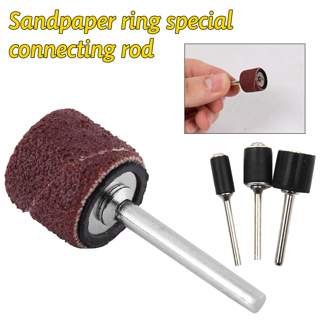 1/8 1/4 Inch Grinder Drum Sanding Sandpaper Circle Kit Polishing Nails For  Rubber Drum Mandrel Grinder Accessories Sandpaper