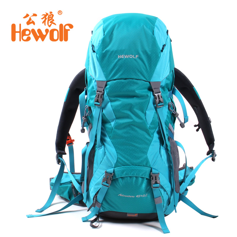 45L+5L Outdoor Bags Waterproof Nylon Hiking Backpacks Outdoor Camping Mochilas Climbing Mountaineering Bags Travel Rucksack