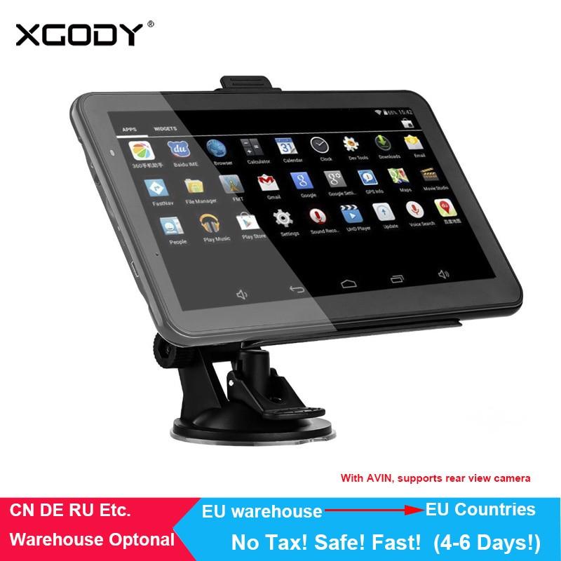 XGODY Android Car GPS Navigation HD 7 inch Truck Navigator 16GB WiFi  Bluetooth Tablet Navitel North/South American Europe Maps