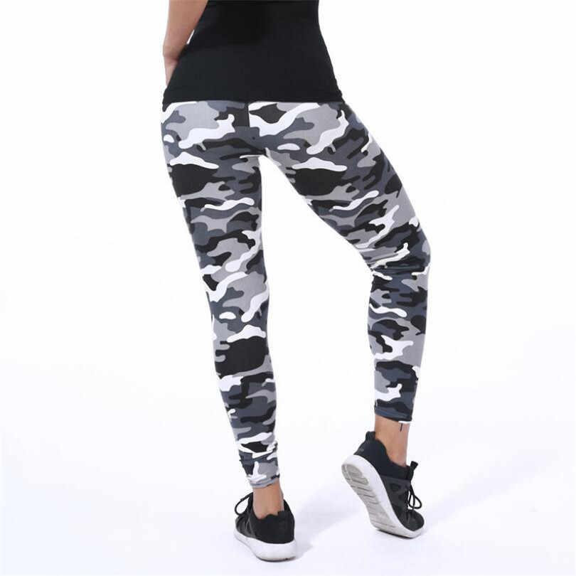 VISNXGI Baru Fashion 2020 Kamuflase Printing Elastisitas Legging Kamuflase Kebugaran Celana Pembalut Kaki Kasual Susu Legging untuk Wanita