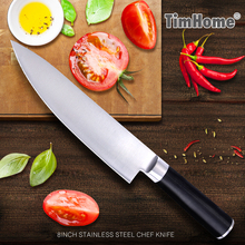"""New popular sharp knife  stainless steel knife 8"""" inch Frozen meat cutter Chef knife kitchen knife with gift box."""