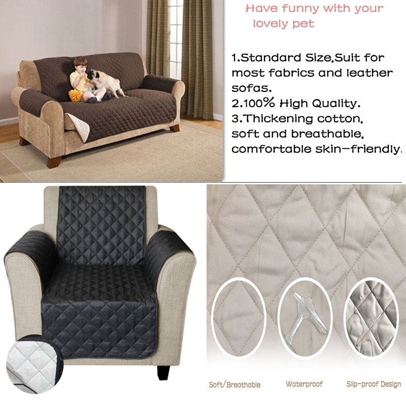 Impermeable acolchado sofá cubre para perros mascotas niños Anti-Slip sofá reclinable fundas sillón muebles Protector de 1/2 /3 plazas