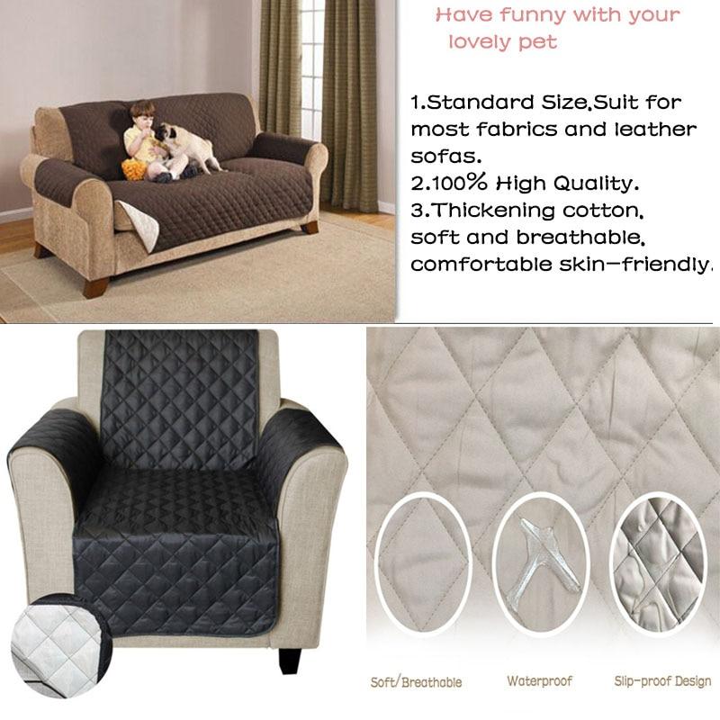 Impermeable acolchado sofá cubre para perros mascotas niños sillón reclinable sillón sofá funda muebles Protector antideslizante 1/2/ 3 plazas