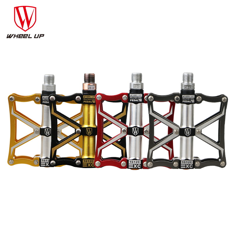 WHEEL UP Bicycle Pedals Anti-Skid Mountain Road Bike Pedals Top Quality Aluminium Titanium Ultra-Light Pedal Bike Parts K3906 rockbros 9 16 magnesium alloy bicycle pedal titanium spindle ultralight mountain bike pedal 5 colors