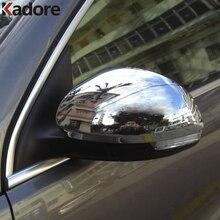 Для Volkswagen Tiguan 2009-2013 хромированное внешнее зеркало заднего вида Накладка заднего вида Автомобильные Зеркала Чехлы для стайлинга автомобилей