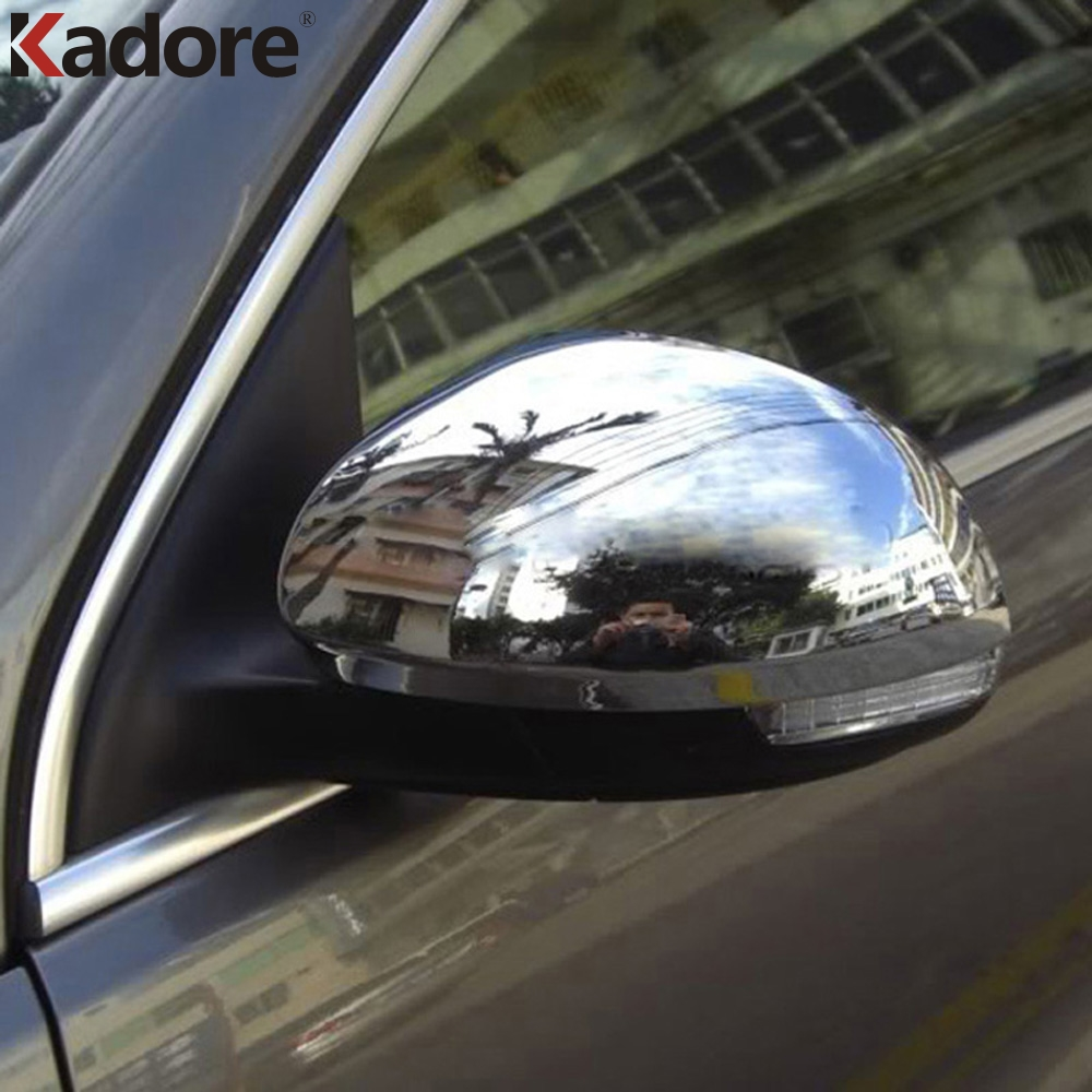 For Volkswagen VW Tiguan 2009-2015 ABS Chrome External Rearview Mirror Cover Trim Rear View Car Mirrors Covers Car Styling 2pcsFor Volkswagen VW Tiguan 2009-2015 ABS Chrome External Rearview Mirror Cover Trim Rear View Car Mirrors Covers Car Styling 2pcs