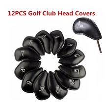 Buy HobbyLane 12PCS/Set Exquisite PU Golf Club Iron Head Covers Protector Golf Head Cover Sets Iron Club Head Cover Accessories directly from merchant!