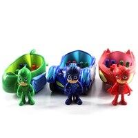 3pcs Lot Coche Pj Masks Characters Catboy Gekko Cloak Action Figure Freddy Toys Boy Gift 3