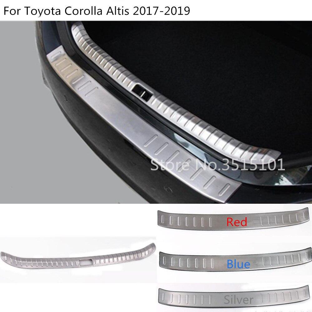 Car stick body outside external Inner Rear trunk Bumper trim plate frame threshold pedal For Toyota Corolla Altis 2017 2018 2019 цена