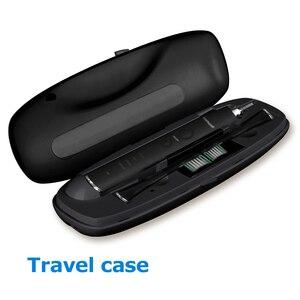 Image 5 - Electric Toothbrush USB Inductive Charging Sonic Toothbrush Adults Electric Sonic toothbrush Black 8 Brush Heads & Travel Case