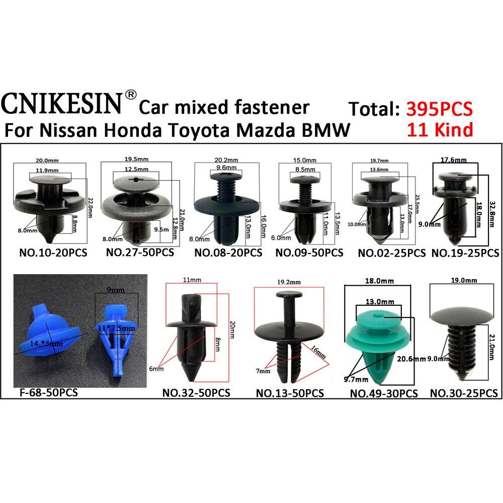 CNIKESIN 6-10mm voor Alle Auto Gemengde Auto Fastener Clip Plastic - Auto-interieur accessoires - Foto 2