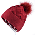 Высокое качество Дамы зимние шапки для Женщин gorros девушки шапочки Сплошной Цвет Случайные Вязаная Шапка Двойной слой плюс бархат капот