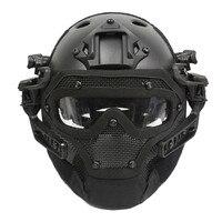 Emerson G4 System/Zestaw PJ Kask z Ogólnej Ochrony Szkła Twarzy Maska BD9197 Utility Tactical Kask Dla Polowanie Strzelanie