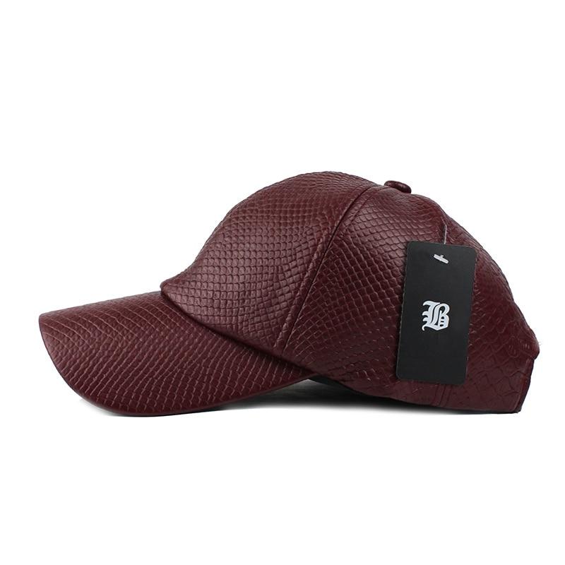 [FLB] Cool! New fashion PU black Baseball Cap kvinnor Hattar För - Kläder tillbehör - Foto 6