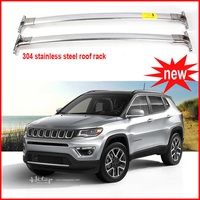 Roof Rail Rack Cross Beam Bar Luggage Rack Horizontal For Jeep Compass 2016 2017 Excellent Stainless