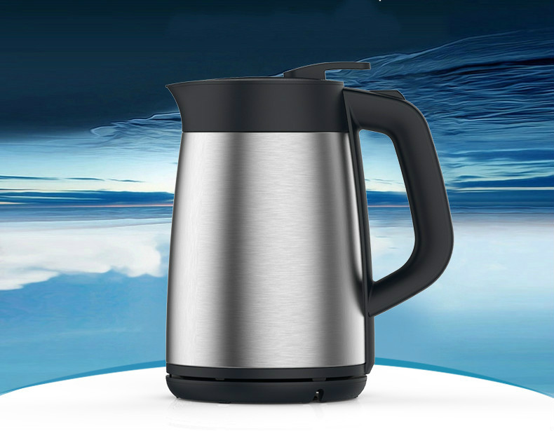 Electric kettle electric heating Vacuum insulated double-layer anti-hot 304 stainless steel Safety Auto-Off Function stainless steel insulated vacuum mug silver 350ml
