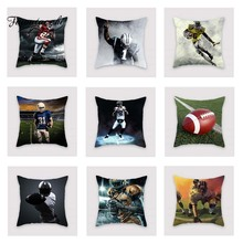 Fuwatacchi Football Strong Athlete Cushion Cover  Soft Throw Pillow Decorative Sofa Case Pillowcase