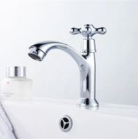 Free shipping classic and rustic bathroom faucets single cold bathroom basin sink faucet water taps torneira de vidro,SN-75