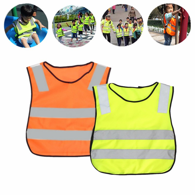Kids Safety Security High Visibility Vests Road Traffic Children Reflective Reflector Vests Clothing Jacket Hot Sale