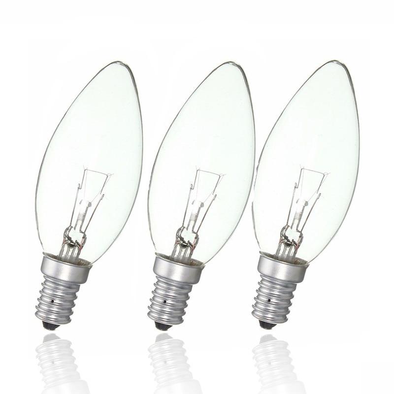 Incandescent Lamp Filament Bulb E14 25W/40W/60W Refrigerator Fridge Candle Light Energy Saving Lamp Warm White AC220-230V