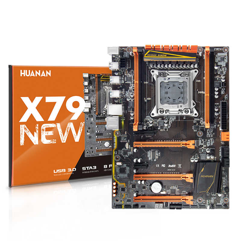 خصم اللوحة مع M.2 فتحة هوانان تشى ديلوكس X79 اللوحة حزمة مع وحدة المعالجة المركزية إنتل زيون E5 2650 V2 RAM 32G (4*8G) REG ECC