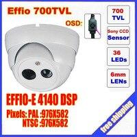 Security 1 3 Sony Effio CCD 700TVL OSD Menu Single Lamp Array LED Outdoor Bullet Camera