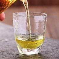 2pcs Hand Blown Glass Tea Cups Simple Kungfu Tea Cups Morning Tea Coffee Milk Juice Mugs