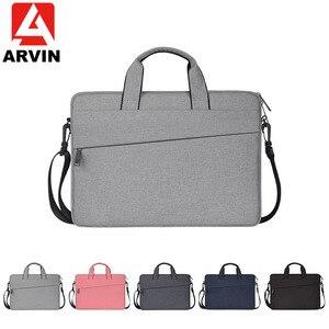 Image 1 - Женская сумка для ноутбука с рукавом вкладышем, чехол для Macbook Air Pro Retina 13 14 15,6 дюймов, сумка на плечо для ноутбука, сумка для компьютера