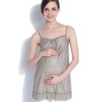 Maternity Clothes Vest Tank Top Nursing Top Pregnant Sleepwear Silver Fiber Radiation Protection Vest Pajamas Protect Fetus A287