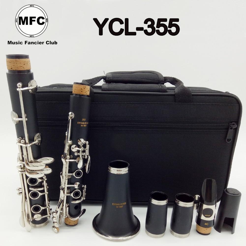Brand New Music Fancier Club Matte ABS Resin Clarinet 355 Bakelite Clarinets Student Bb Mouthpiece 4C