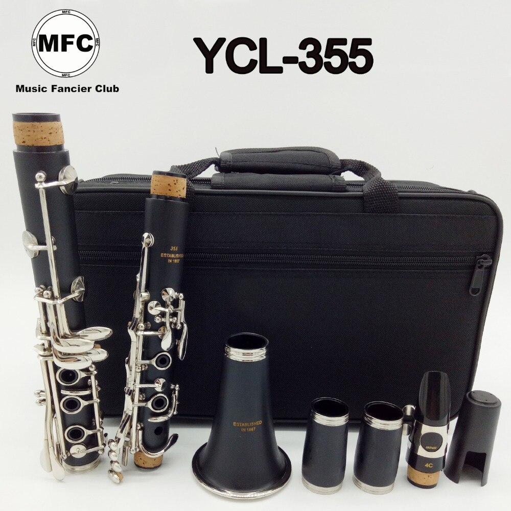 Marque Nouvelle Musique Amateur Club Mat ABS Résine Clarinette 355 Bakélite Clarinettes Étudiant Bb Embout 4C Inclus Cas