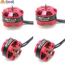 4 יח\חבילה Mitoot R1104 7500KV Brushless מנוע עבור 2030 3020 מדחף RC מירוץ רייסר Drone Quadcopter
