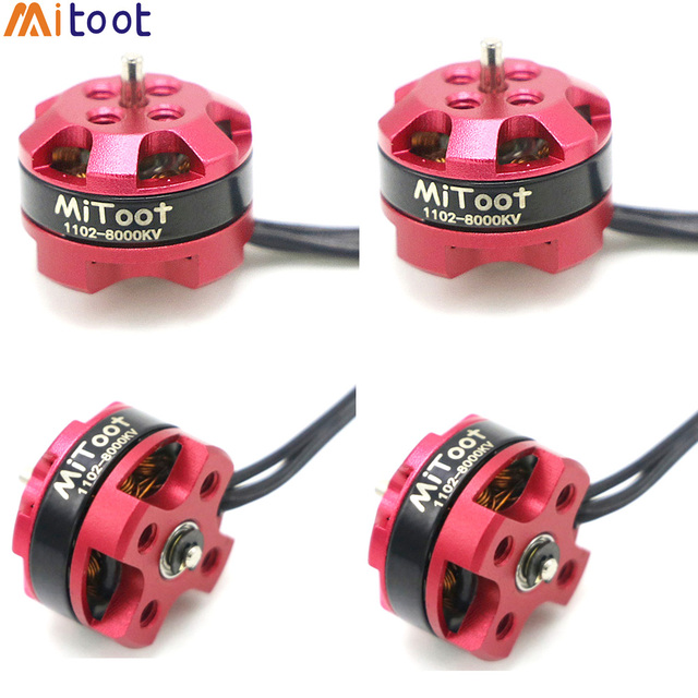 4pcs/lot RC Motor 1102 7500KV 8000KV 10000KV 1 3S Brushless Motor for 50 90mm Micro FPV Racing Drone Quadcopter