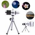Kit Câmera com Zoom de 12X Telefoto Telescope Lens + Tripé Para Telefone Inteligente Universal Nova