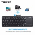 Tecknet toque sem fio bluetooth keyboard russo com touchpad para windows pc, Smart TV e Android Tablet, Disposição russa