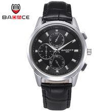 BADACE Classic Business Swiss Men Watch Fashion Waterproof 30M Leisure Quartz-Watches Leather Band Mens Wristwatches 8869