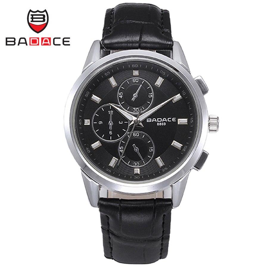 00ead5933f0 BADACE Homens de Negócios Assistir Relógio Moda Horas À Prova D  Água 30 M  Relógio