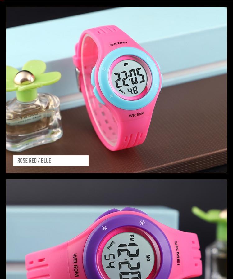 SKMEI Fashion Men Quartz Watch Children Digital Watch Big Dial Waterproof Parent-child Watches relogio masculino 9185 1455 Set 25