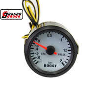 52mm black Car turbo pressure gauge pointer car modification Meter boost gauge vacuum BAR PRESS GAUGE Free shipping