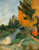 High quality Oil painting Canvas Reproductions Les Alyscamps (1888) by Paul Gauguin hand painted